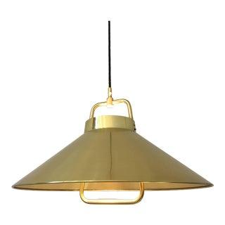Vintage 1960s Danish Brass Pendant Light by Fritz Schlegel for Lyfa For Sale