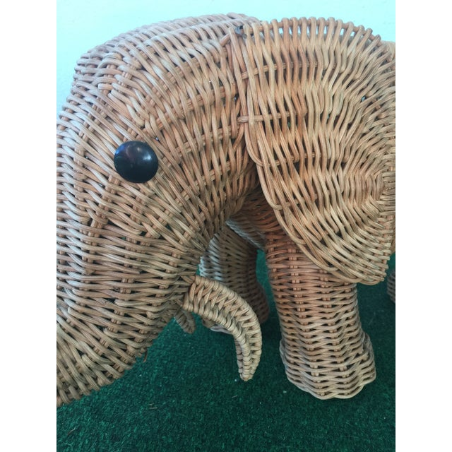 Wicker Elephant Planter For Sale In Miami - Image 6 of 9