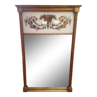 19th Century American Federal Giltwood and Églomisé Mirror For Sale