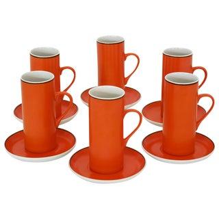 Set of La Gardo Tackett Espresso Cups For Sale