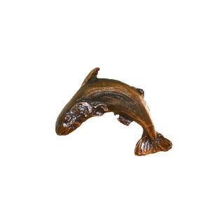 Fish Knob with Traditional Patina For Sale