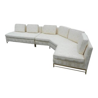 Impressive Two-Piece Mid-Century Modern Sofa by Paul McCobb for Directional For Sale