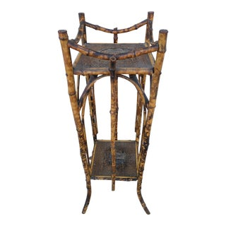 Antique English Tortoise Bamboo Plant Stand
