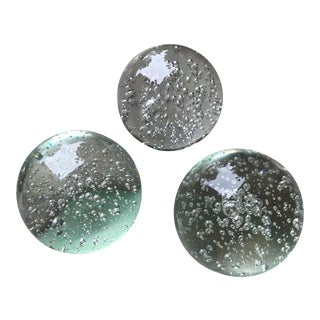 Glass Orb Spheres - Set of 3 For Sale