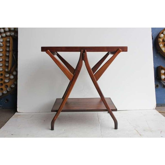 Mid-Century Modern 1950's Vintage Kipp Stewart for Drexel Walnut Serving Table For Sale - Image 3 of 4