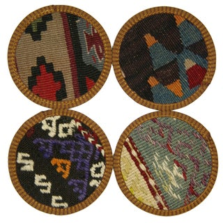 Turkish Kilim Coasters, Sivas - Set of Four
