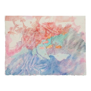 Soft Abstract Watercolor Painting For Sale