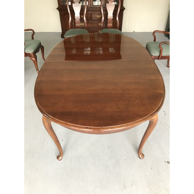 1970s Thomasville Queen Anne Dining Table For Sale - Image 9 of 13