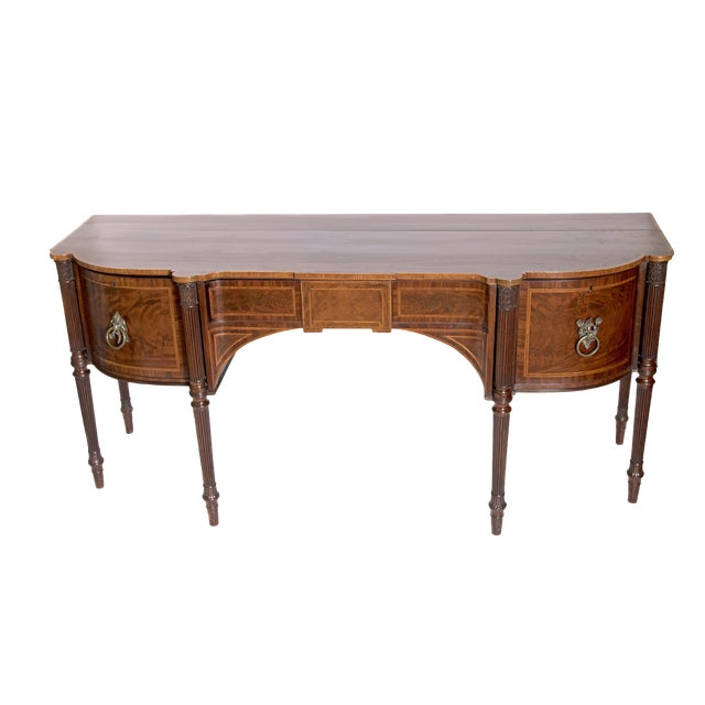 Late 18th Century Mahogany George III Sideboard With Cellerette For Sale