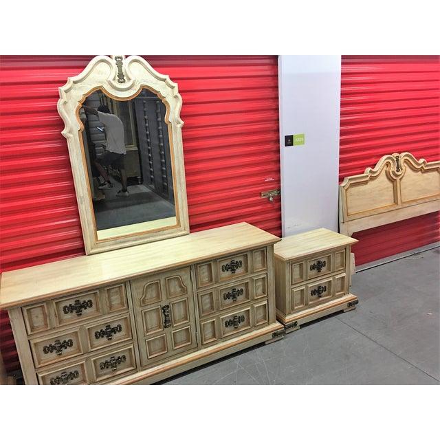 Vintage Stanley Solid Wood Dresser with Mirror - Image 4 of 10