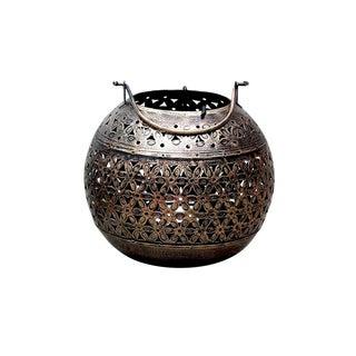 Round Filigree Votive Lantern For Sale