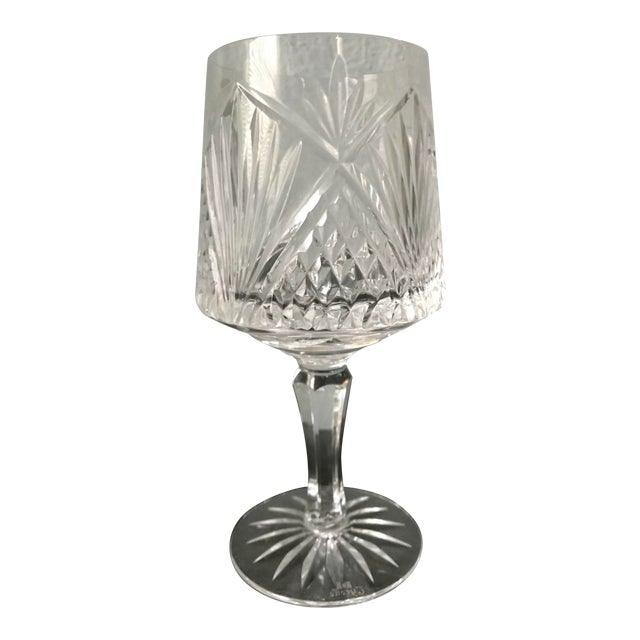Vintage Queen's University of Belfast Full Lead Hand Made Irish Tyron Crystal Glass For Sale