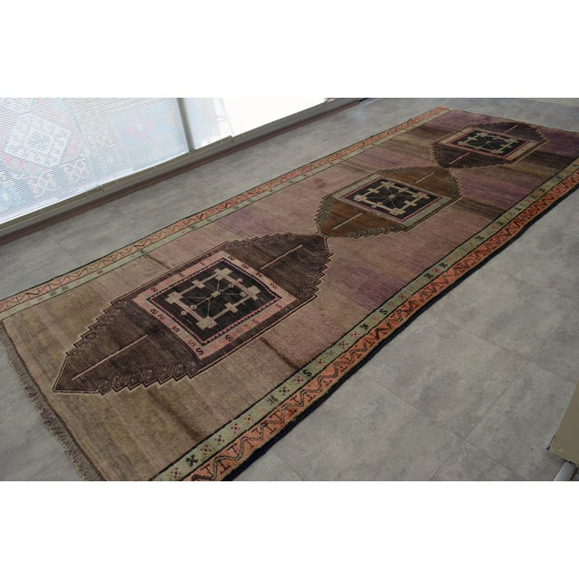 """Turkish Hand-Knotted Runner Rug - 5'7"""" x 13'9"""" - Image 6 of 11"""