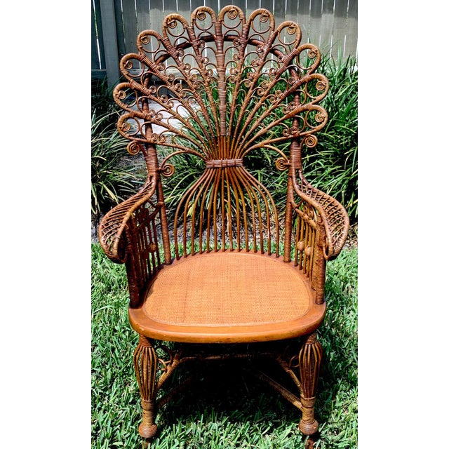 High Victorian Wicker Parlour Set - Set of 6 For Sale In West Palm - Image 6 of 13