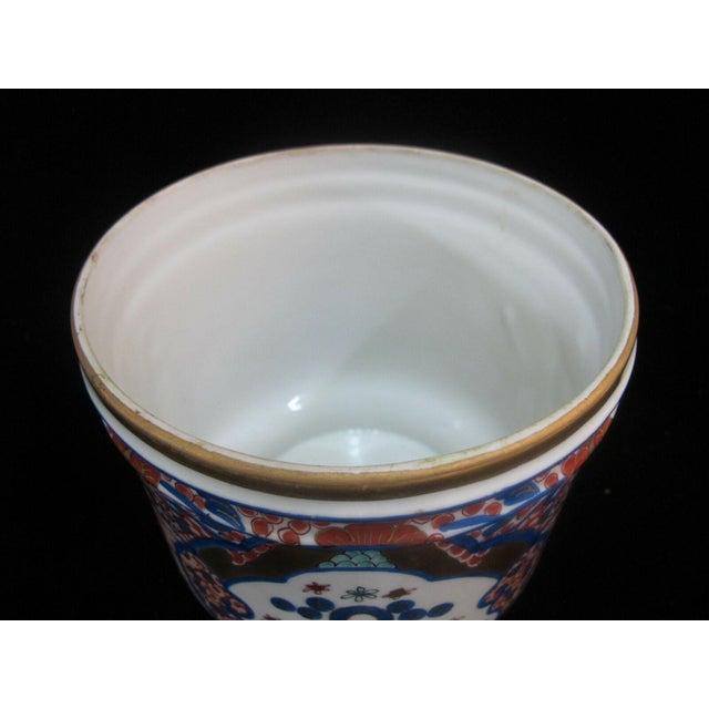 Mid 20th Century Vintage Porcelain Imari Pot Small Handle Vase Jar Gold Gilt Floral Design For Sale - Image 5 of 7
