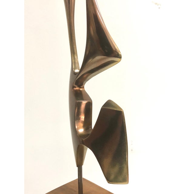 Modernist Bronze Abstract Sculpture by Bolte For Sale In Miami - Image 6 of 11