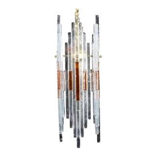 Mid Century Italian Modern Art Glass Chandelier For Sale
