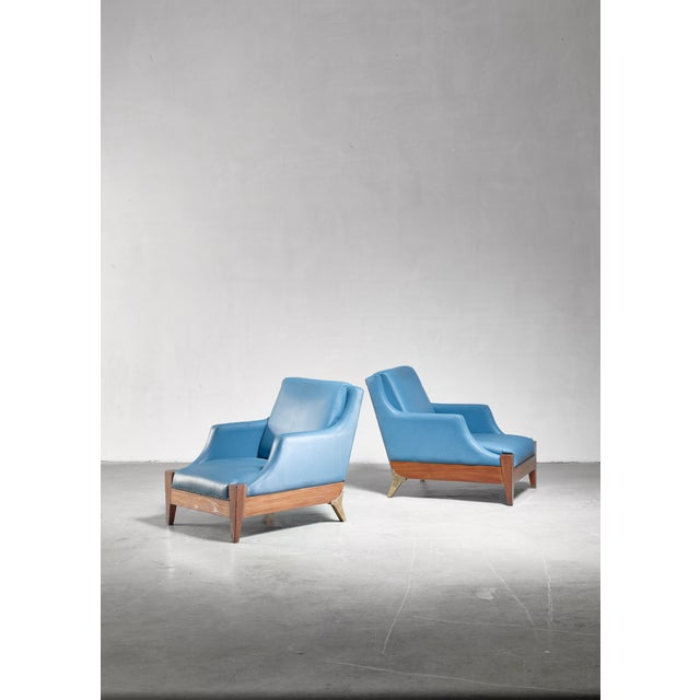 Melchiorre Bega Pair of Lounge Chairs, Italy, 1940s For Sale - Image 6 of 6