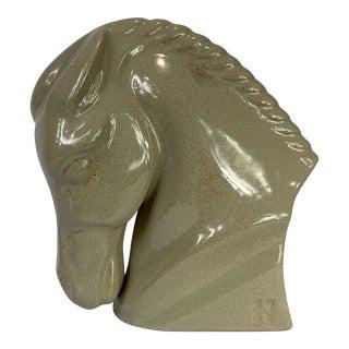 Late 20th Century Haeger Ceramic Horse Head Sculpture For Sale