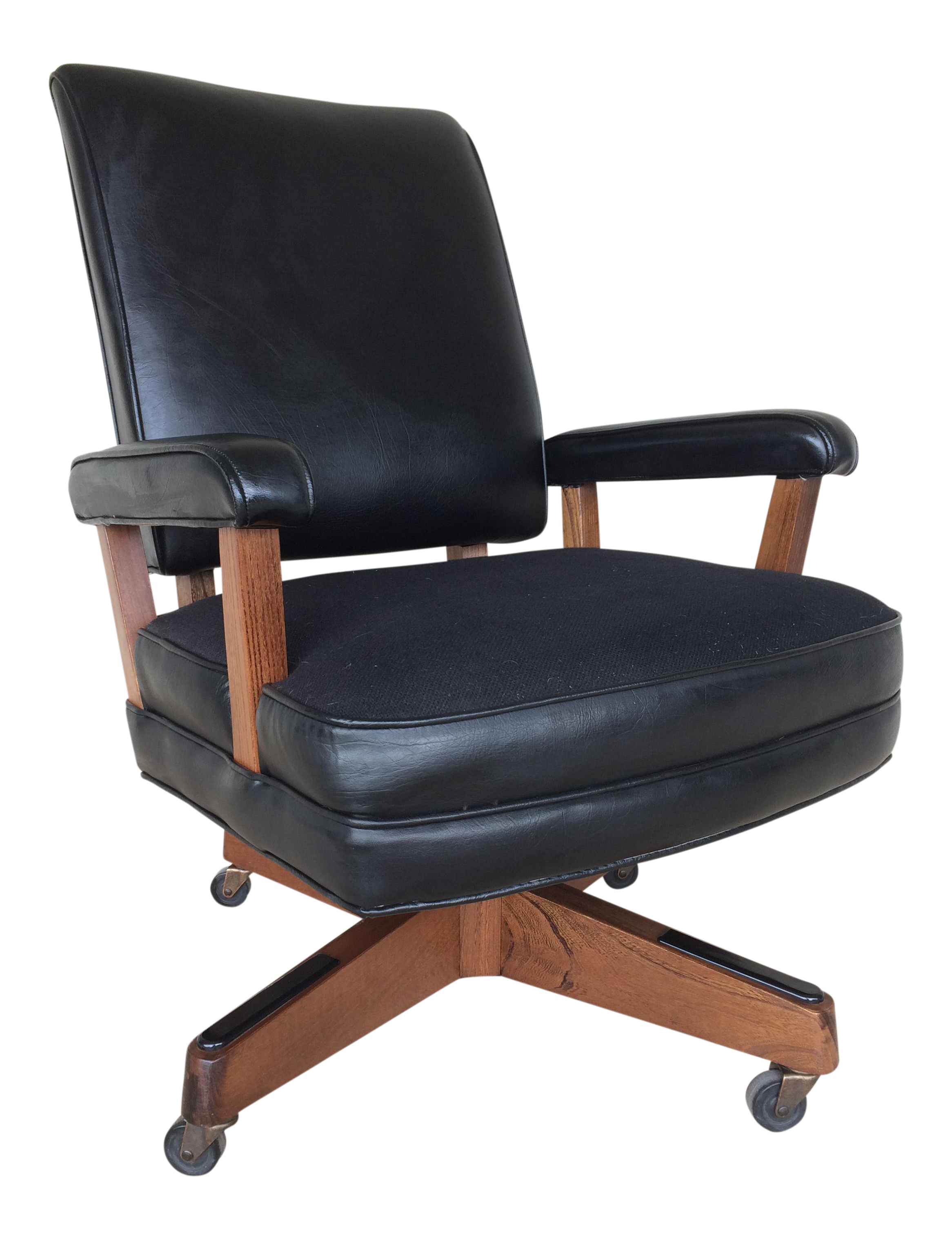 Vintage Hon Furniture Mid-Century Modern Faux Leather Desk Chair  sc 1 st  Chairish & Vintage Hon Furniture Mid-Century Modern Faux Leather Desk Chair ...