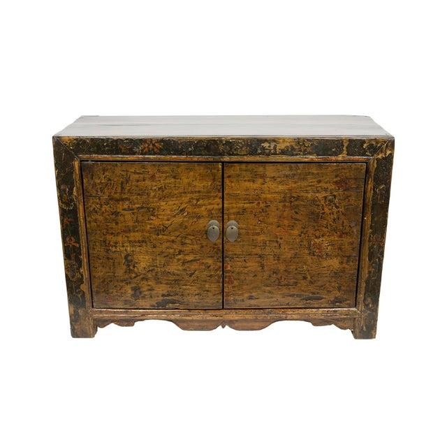 Antique Mongolian 2-Door Cabinet For Sale