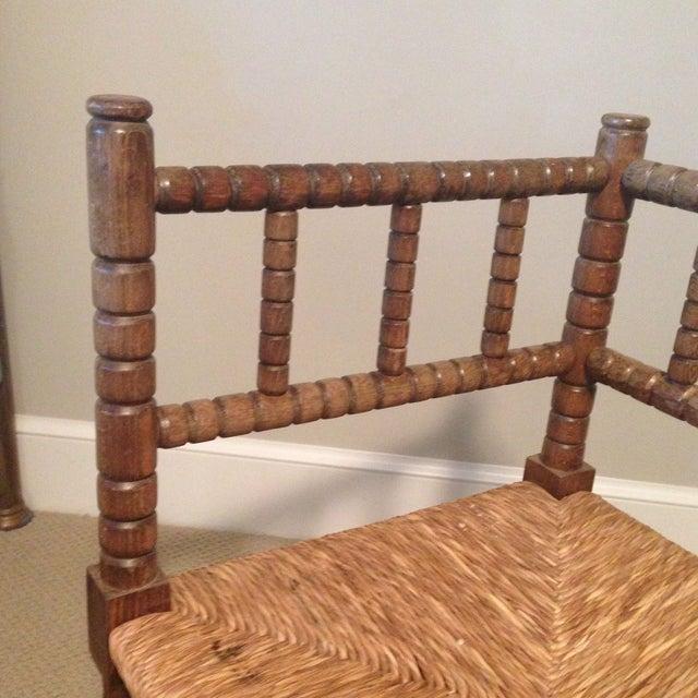 Corner Cane Spool Chair - Image 6 of 7