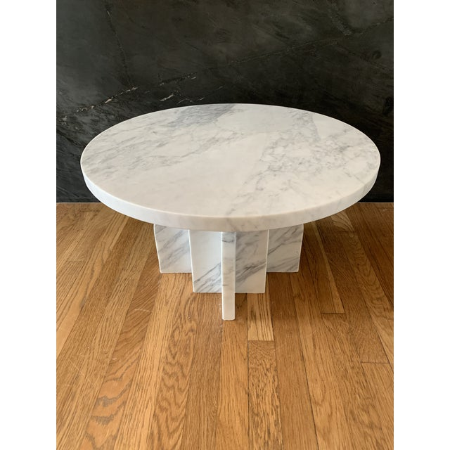 Seer Studio's Ratio cocktail/coffee table. Made to order. Shown in Calacatta, offered here priced as Carrara.