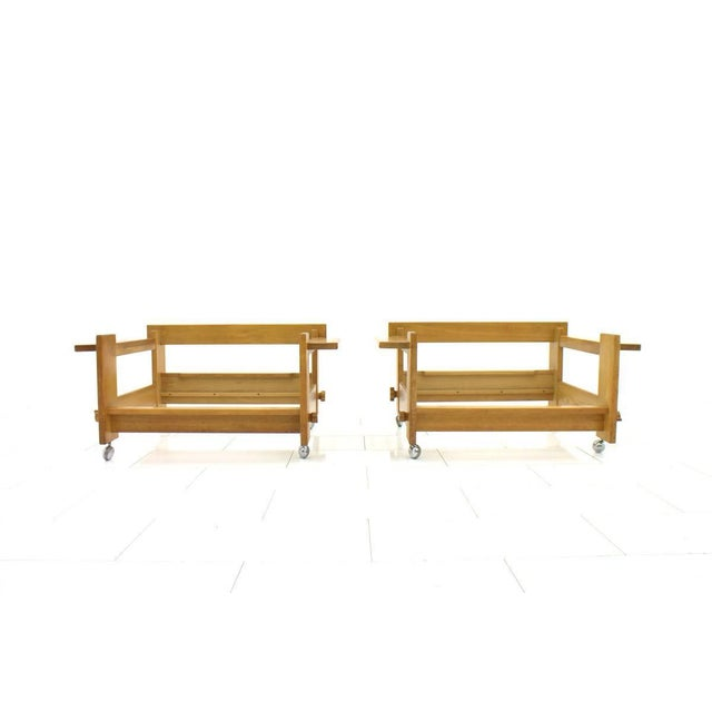 Yngve Ekström Lounge Chairs in Oak for Swedese, Sweden 1960s For Sale - Image 9 of 10