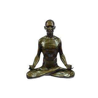 Yoga Sport Edition Bronze Sculpture on Marble Base Figurine