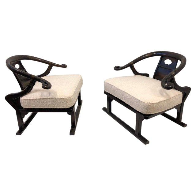 Michael Taylor for Baker Walnut Lounge Chairs - a Pair For Sale