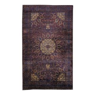 Antique Persian Kerman Rug Saturated Jewel-Tones, Kirman Gallery Rug