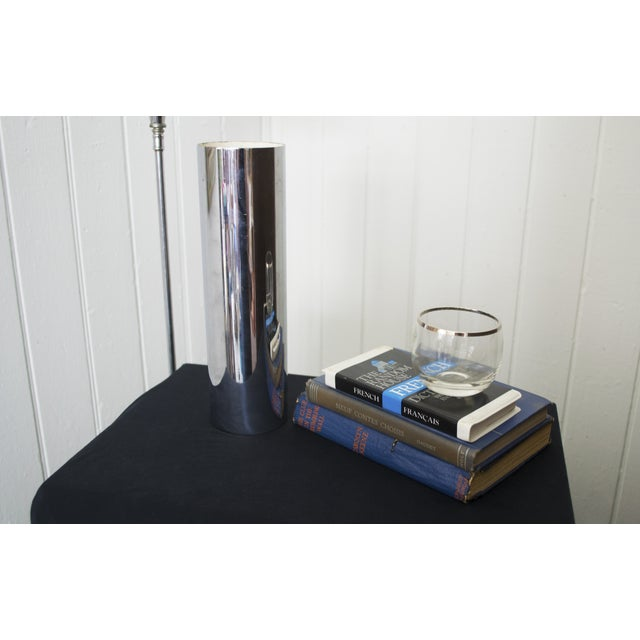 Minimalist Chrome Vase Made in Berlin - Image 3 of 4