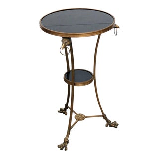 20th Century Regency Granite Top Gueridon Table For Sale