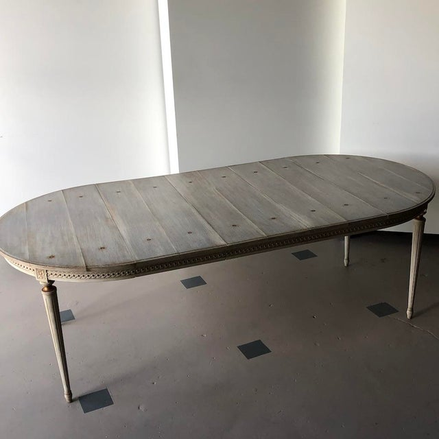 Faux Board and Tack Dining Table For Sale - Image 10 of 10