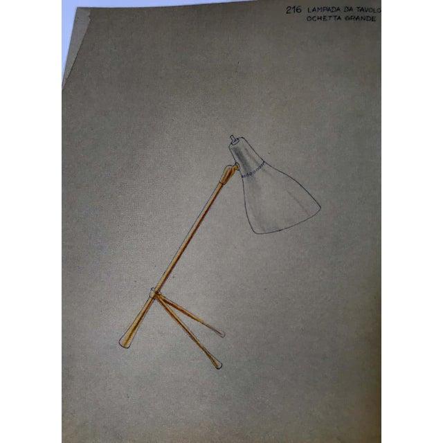"1950s Giuseppe Ostuni ""Ochetta"" Wall or Table Lamp for O-Luce For Sale - Image 11 of 13"