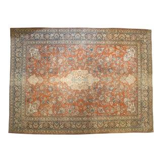 "Vintage Distressed Mahal Carpet - 12' X 16'1"""