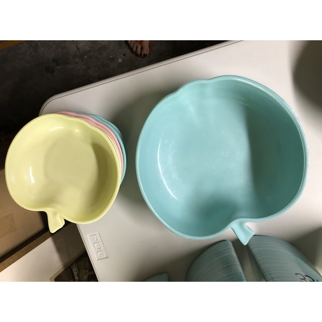1960s 1960's Hazel-Atlas Milk Glass Apple Bowls - Set of 7 For Sale - Image 5 of 6