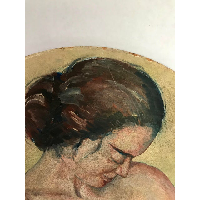 Original Painting of a Mother Nursing - Image 2 of 4