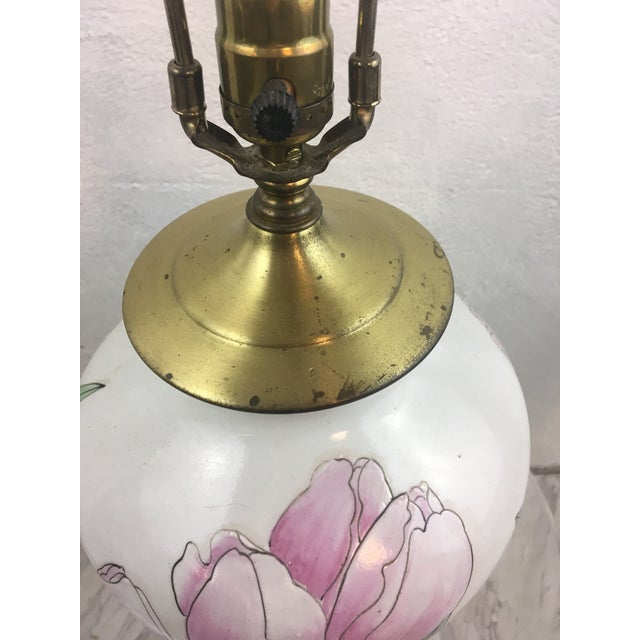 1970s Vintage Tulip Lamp With New Shade For Sale - Image 5 of 8