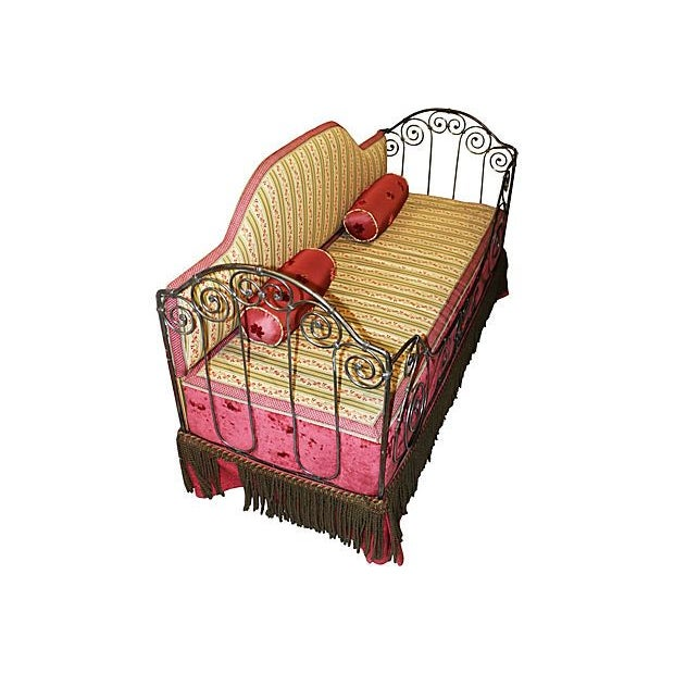 French Country 1880s French Antique Iron Daybed For Sale - Image 3 of 5