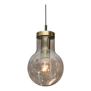RAAK Smoke Glass and Brass Pendant For Sale