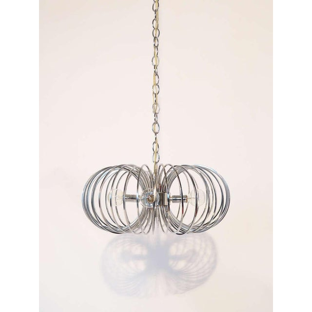 "Gaetano Sciolari ""Cage"" pendant lamp by Lightolier For Sale - Image 11 of 11"