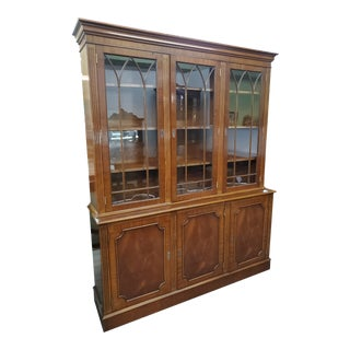 Vintage Mahogany China Cabinet For Sale