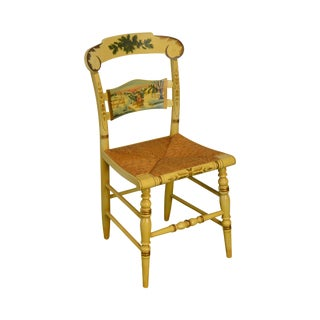 Hitchcock Limited Edition Christmas Rush Seat Side Chair For Sale