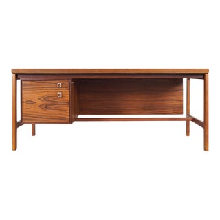 Danish Rosewood Executive Desk by Arne Vodder for h.p Hansen For Sale