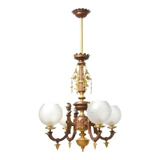 Four Arm Greek Revival Kolokotronis Chandelier For Sale