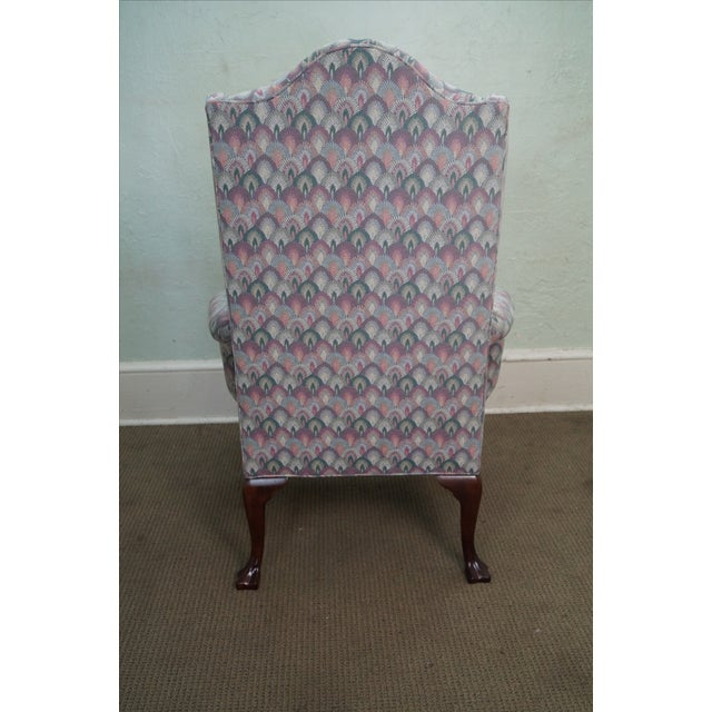 Solid Mahogany Queen Anne Wing Chair by Southwood For Sale - Image 4 of 10