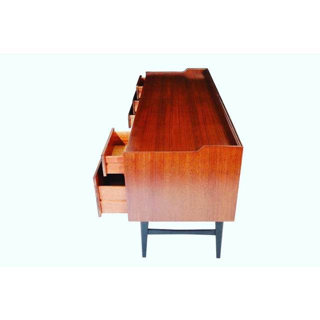 Mid-Century Modern 1960s Mid Century Vanity With 6 Drawers and Brass Handles For Sale - Image 3 of 7