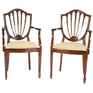 Shield Back Arm Chair - a Pair For Sale