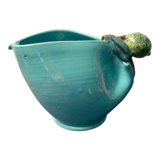 Fratelli Fanciullaci Blue Ceramic Lemon Pitcher For Sale